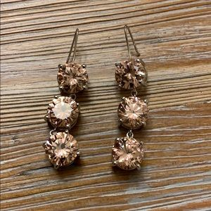 Pink dangly gemstone earrings